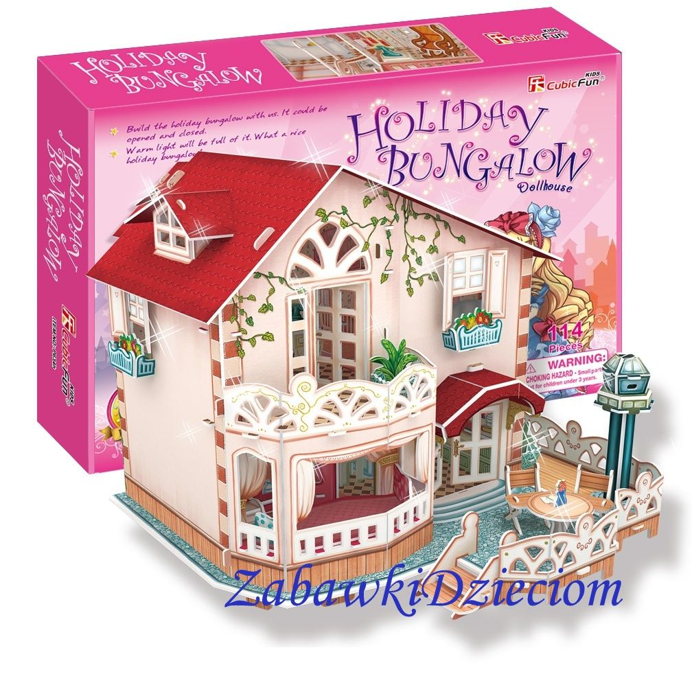 Cubic Fun Puzzle 3d Domek Dla Lalek Bungalow 114el Zabawki