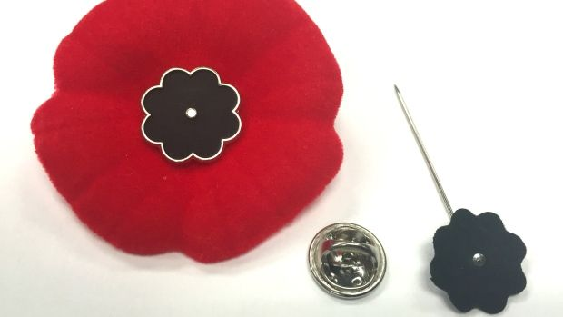 To keep the Royal Canadian Legion's Remembrance Day symbol secure to…