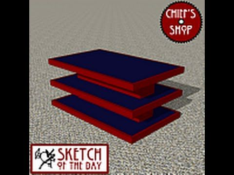 Chief's Shop Sketch of the Day: Stacked Coffee Table - YouTube