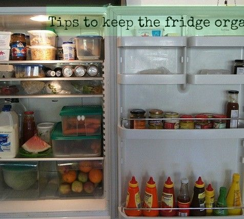 How to organise the contents of your fridge Refrigerador
