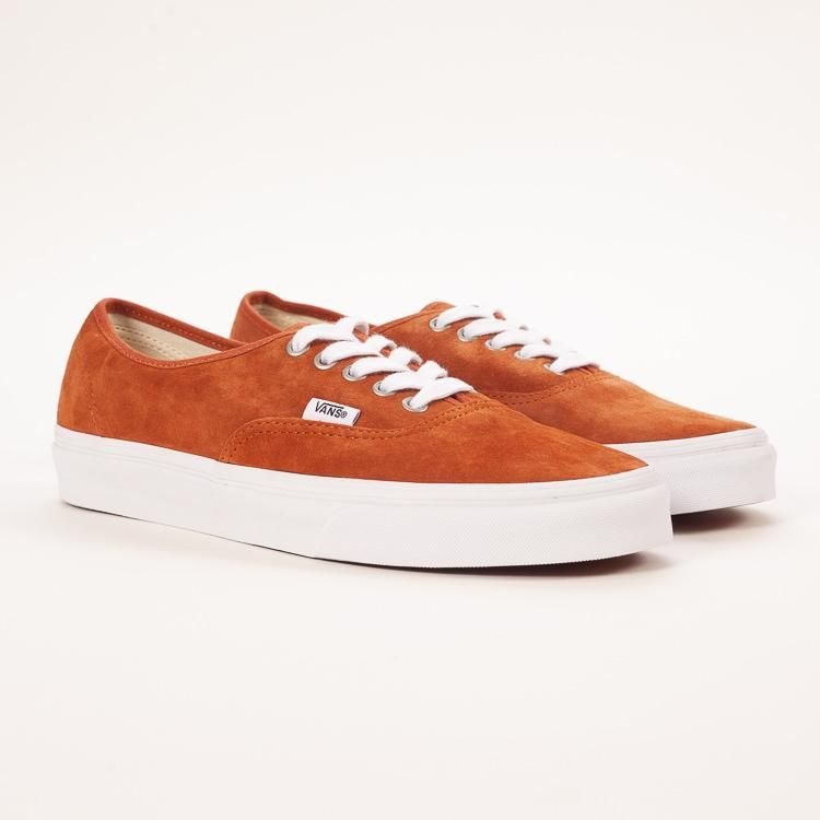 6bfc39694abe Product shot of Vans Authentic Suede Leather Brown Trainers ...