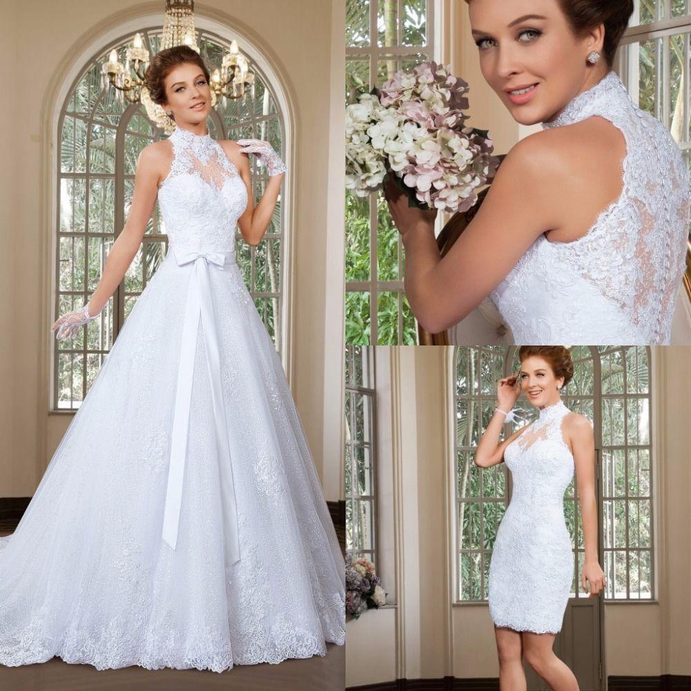 Detachable skirt wedding dress  Nice Amazing  New Wedding Dresses Luxury Lace With Detachable