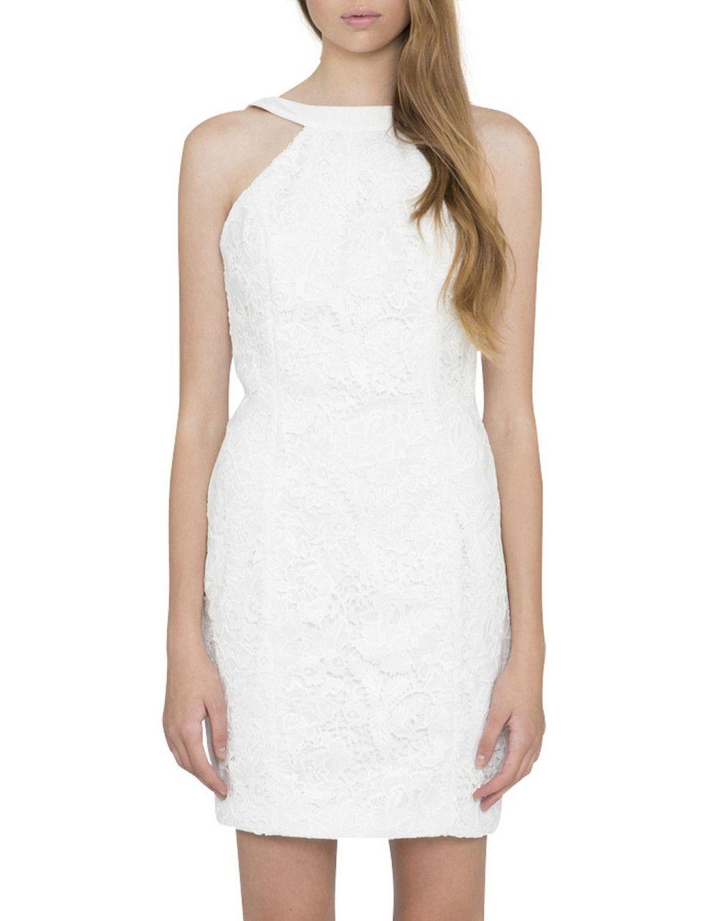 White dress david jones - Take It All High Neck Dress David Jones