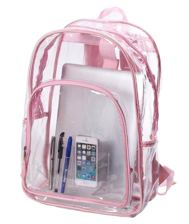 Amazon.com   Transparent Clear School Bag See-thru Backpack Casual Daypack  Outdoor Knapsack   Kids  Backpacks ef2b5da76a