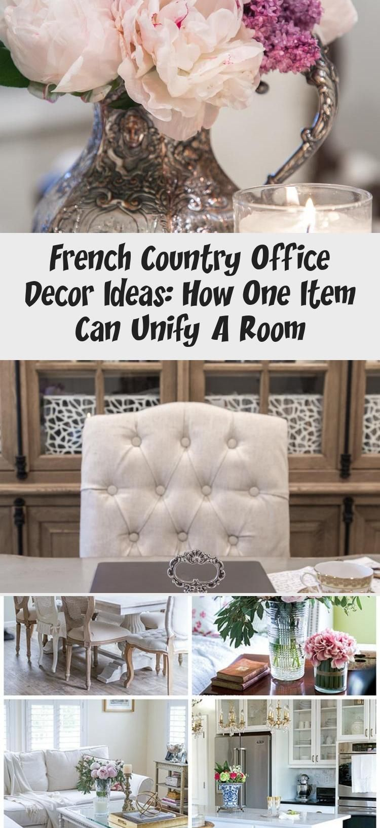 French Office Decor  Looking for office decor ideas with French Country style Heres how I unified the look of our home office with the addition of one new item