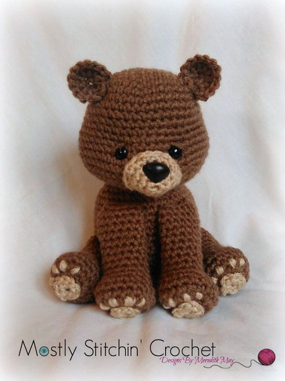 Bear Crochet Pattern; PDF; Black Bear, Brown Bear, Polar Bear | Oso ...