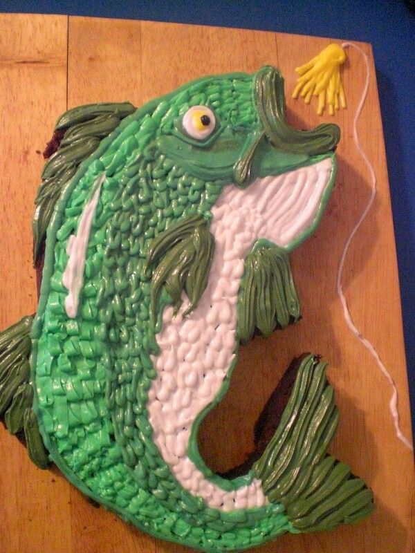 Bass fish cake order Creative Sweets Cakes Pinterest Bass