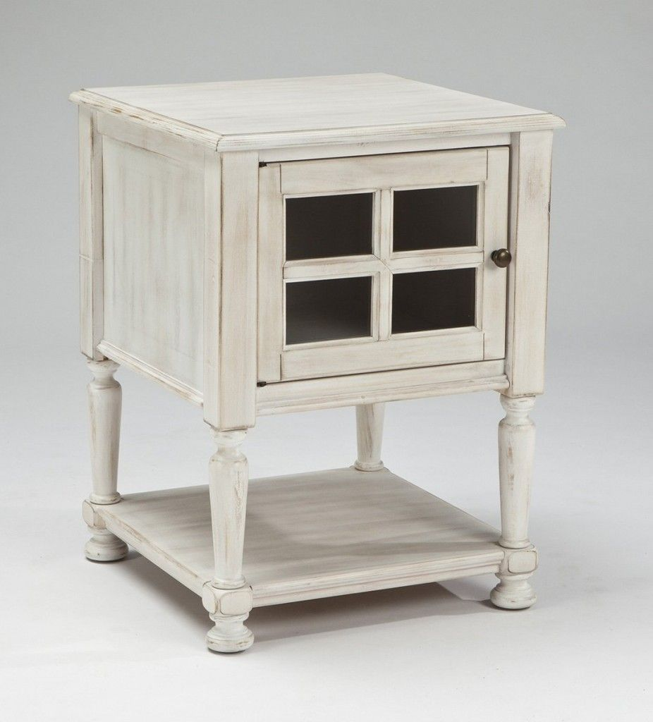 Distressed White End Tables White End Tables End Tables Ashley