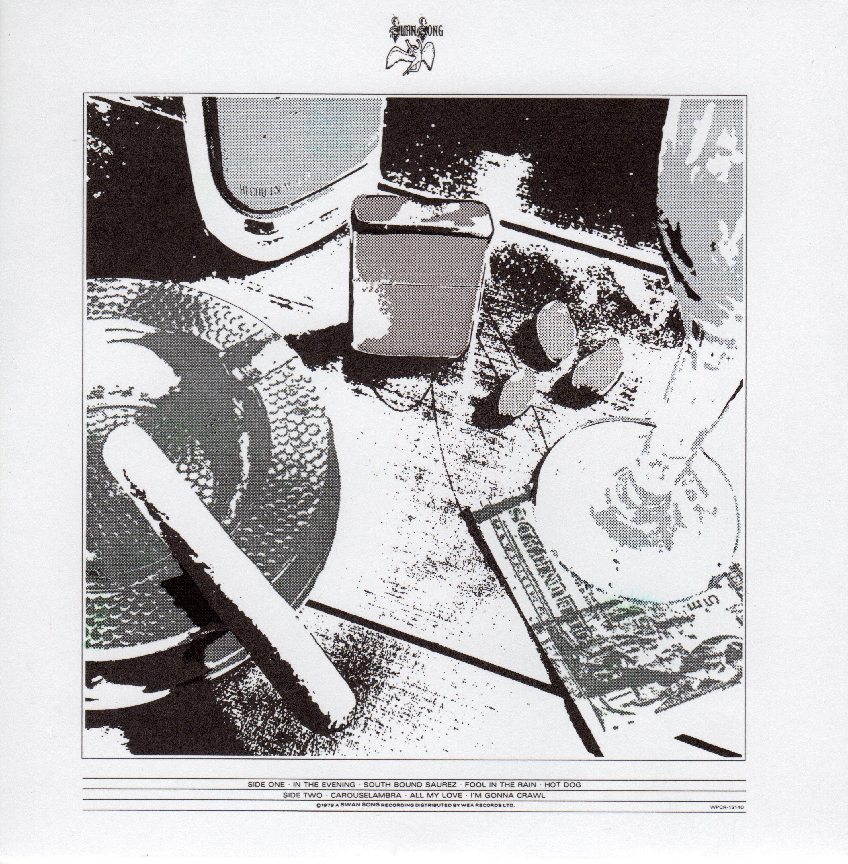 The 6 Variant Album Covers Of Led Zeppelin S In Through The Out Door Led Zeppelin Vinyl Album Cover Art Led Zeppelin