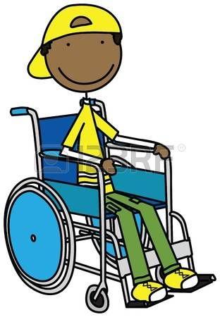 Ilustracion De Un Nino Sonriente Sentado En Una Silla De Ruedas Ilustracion De Dibujos Animados Fotos Libres De Derechos Ninos