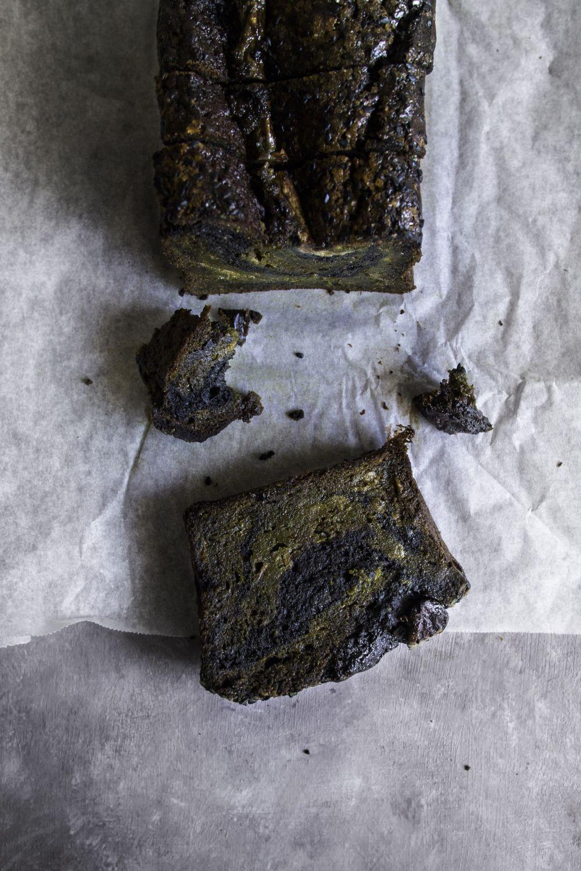 Matcha Black Sesame Banana Bread Banana Bread Breakfast Cake Black Sesame