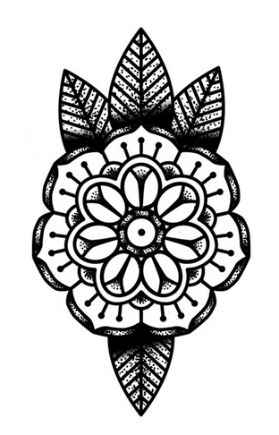 Finally Found A Dotmandala Flower Tattoo I Love Le Art Pinterest
