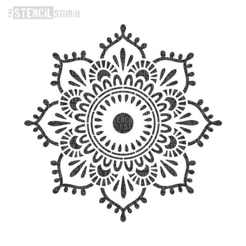 Mandala Stencils Indian Mandala Stencils Pattern Stencils Eva Mandala Stencil Wall Pattern Stencils 10703 Mandala Stencils Leather Wallet Pattern Wall Stencil Patterns