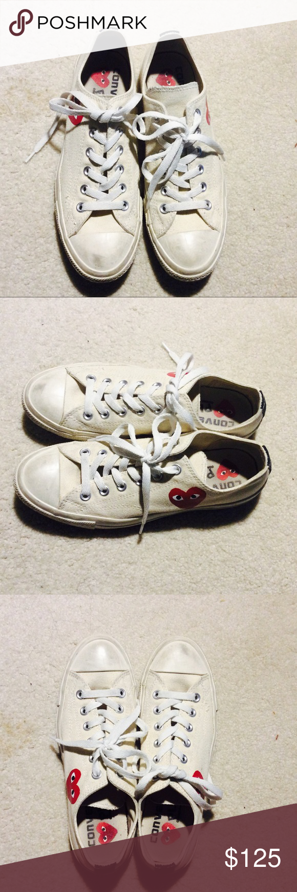 e0a7382e69 Converse Comme des Garcons beige low top 7M  9W Very rare. Sold out  everywhere
