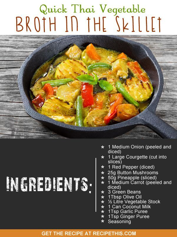 One Pot Cooking | Quick Thai Vegetable Broth In The Skillet