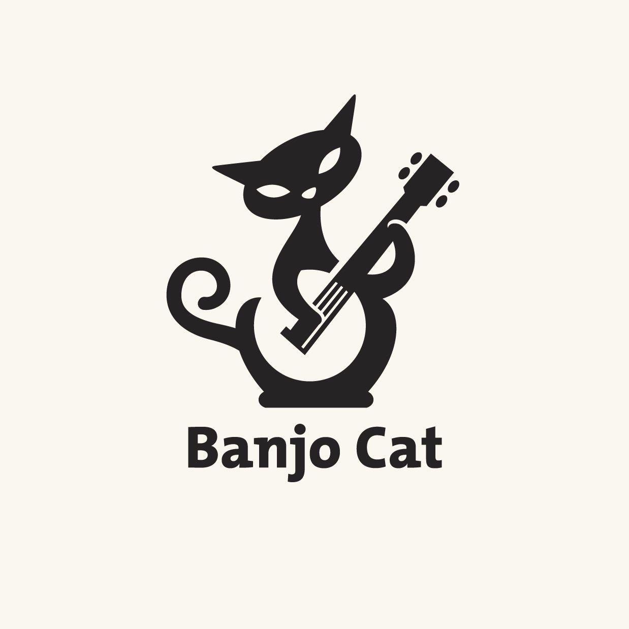 Bathroom logos ideas - Cats In Design It S Awesome Banjo Cat Logo By Randyheil
