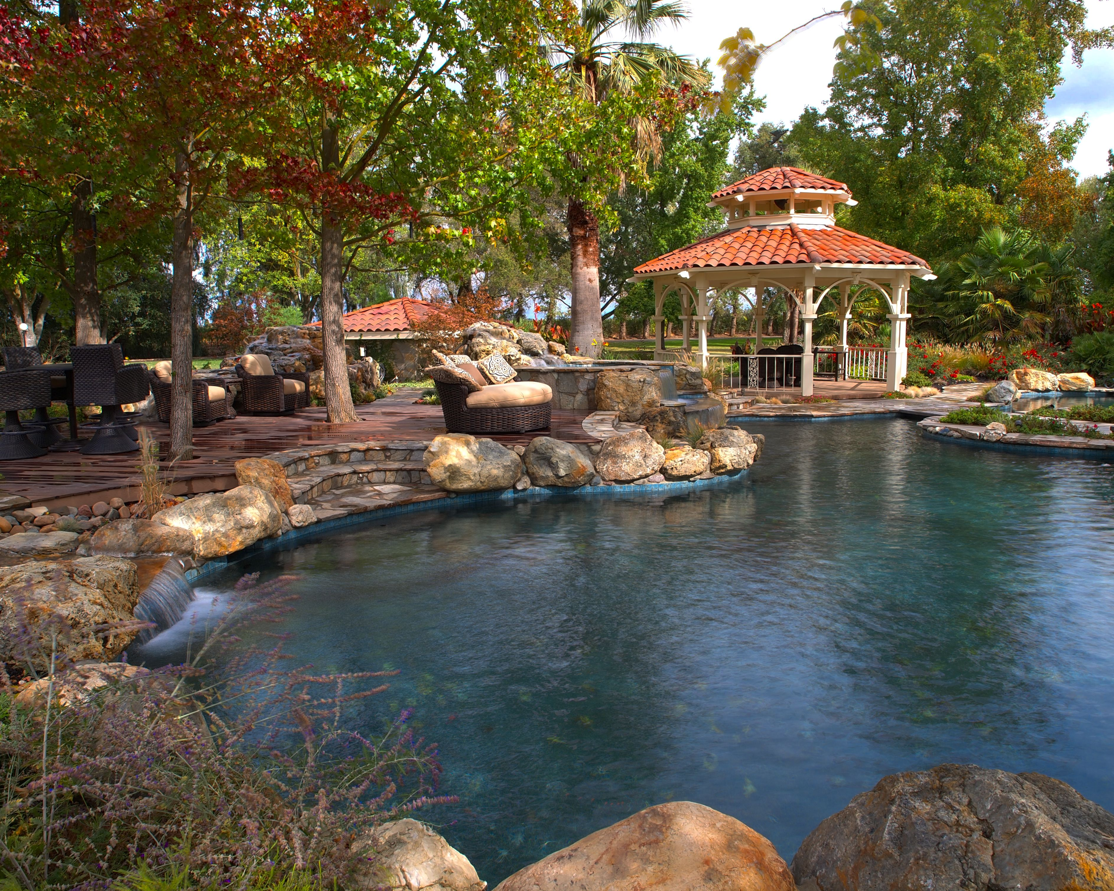 Beautiful gunite pool designed by Geremia Pools ...