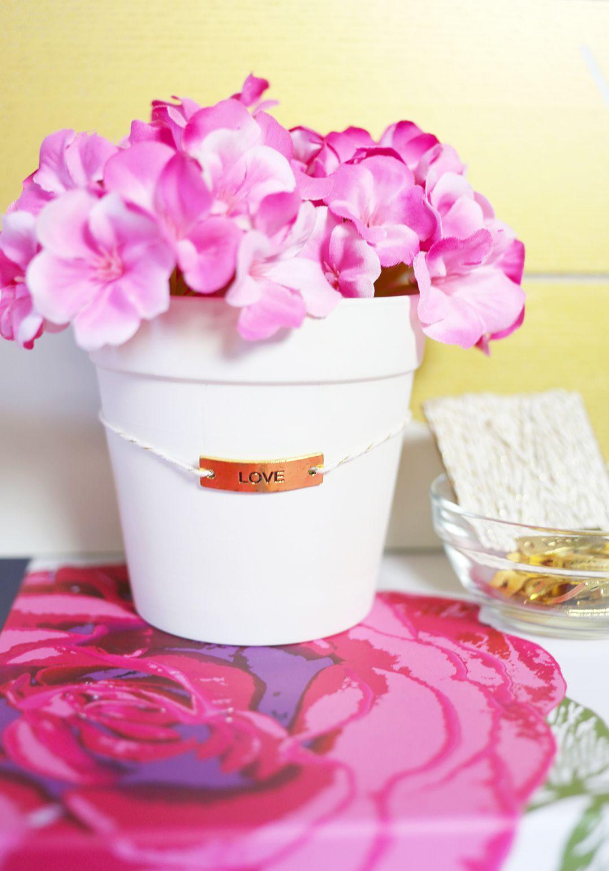 DIY Bridal Shower Charmed Flowerpots   Bridal showers, Oriental ...