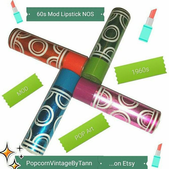 Get your asthetic Mod groove on for these candy colored 60's