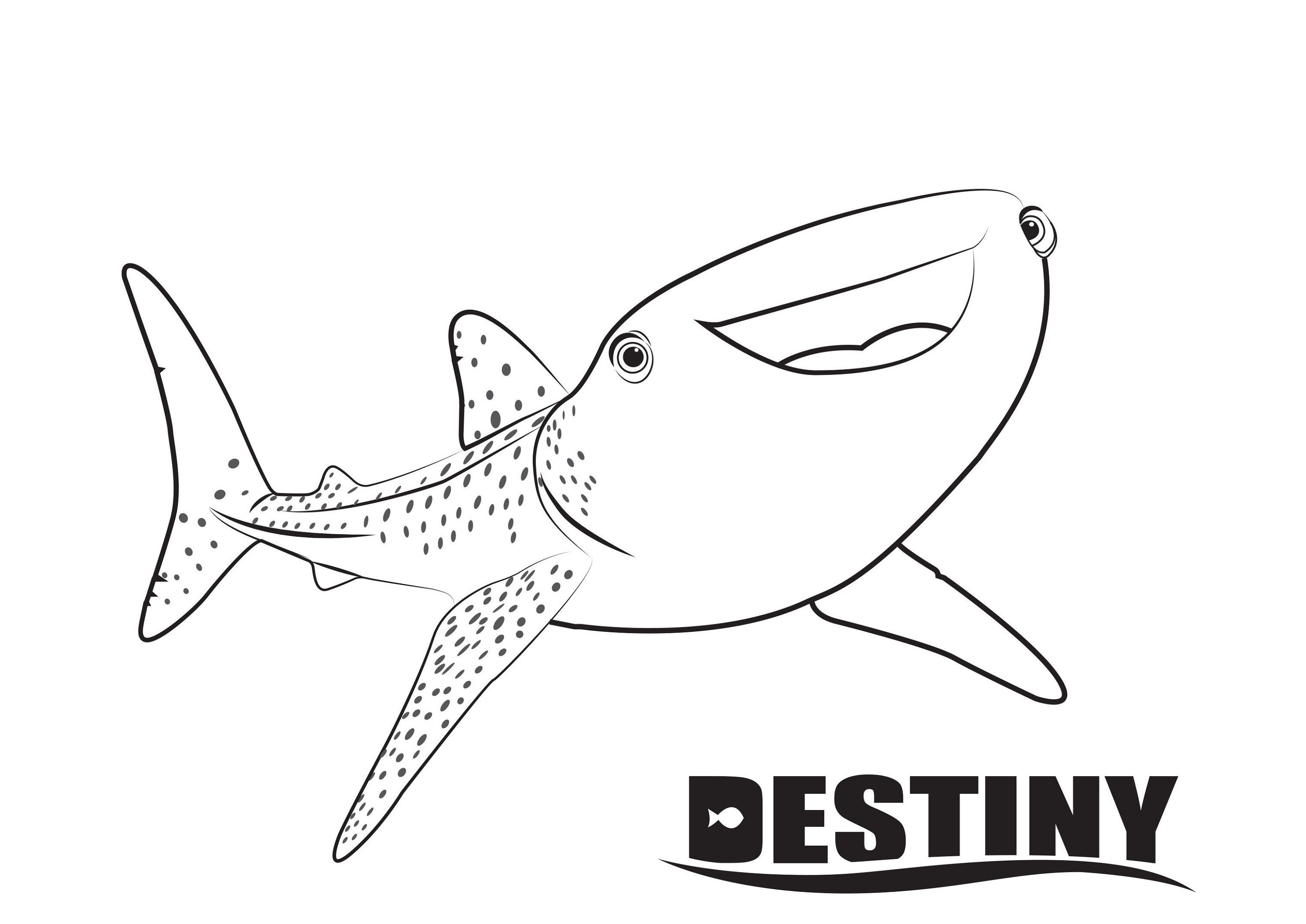 Finding Dory Coloring Pages Destiny Educative Printable