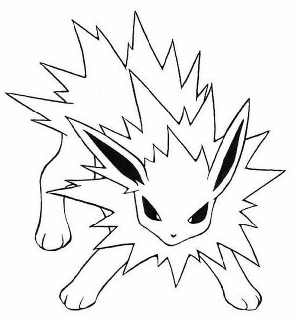 Furious Jolteon Coloring Page Kids Play Color Pokemon Coloring Pokemon Coloring Pages Horse Coloring Pages