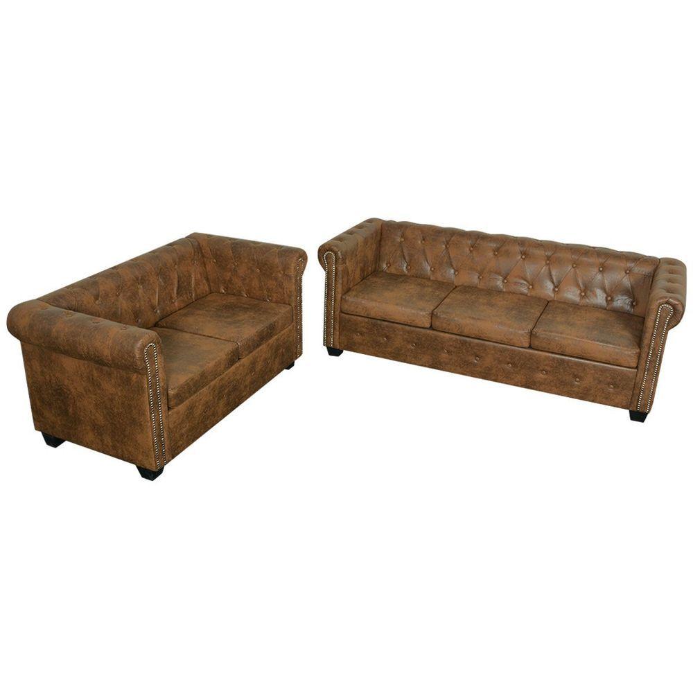 Vidaxl Chesterfield Sofa 2 3 Sitzer Couch Lounge Buro Wohnmobel