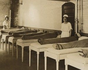 Wrapped Patients at St. Elizabeths Asylum, Canton, early 1900s courtesy National Archives