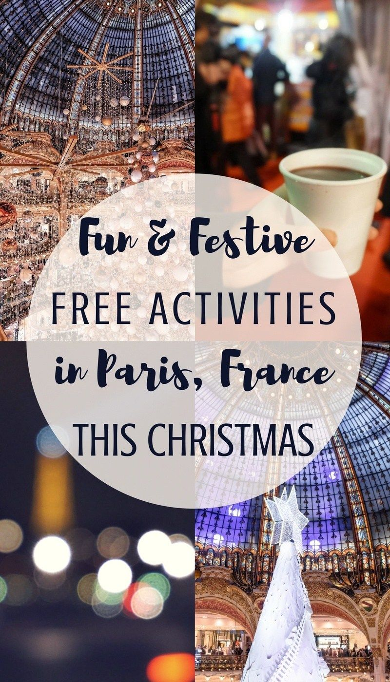 fun free christmas activities in paris for the holiday season