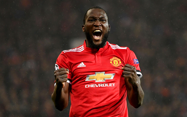 Download wallpapers Romelu Lukaku, joy, goal, footballers