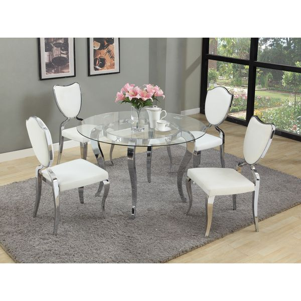 Christopher Knight Home Lexie White Dining Set Set Of 5  Dining Enchanting White Contemporary Dining Room Sets Decorating Inspiration