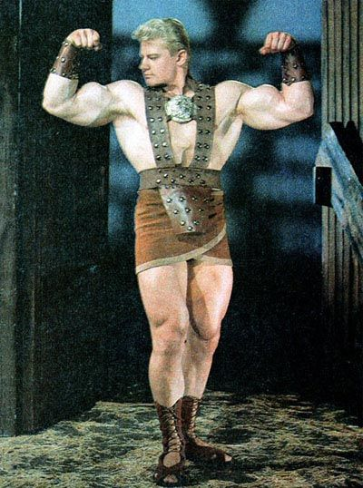 "Dave Draper as ""David the Gladiator"" seen on LA, TV-9, on Saturday afternoons in 64-65."