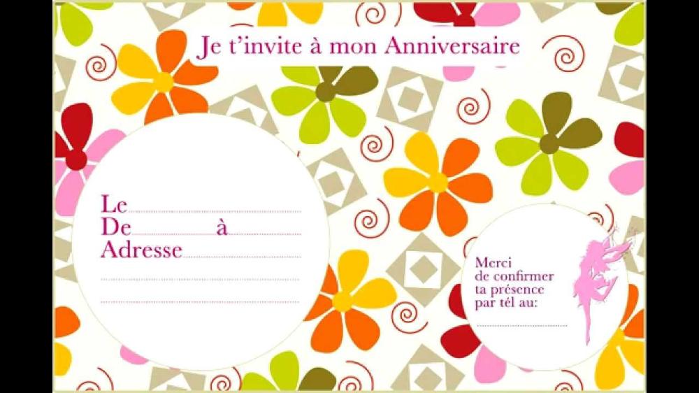 Carte D Anniversaire Gratuite A Imprimer Et A Personnalis Carte Invitation Anniversaire Gratuite Invitation Anniversaire Gratuite Carte Invitation Anniversaire