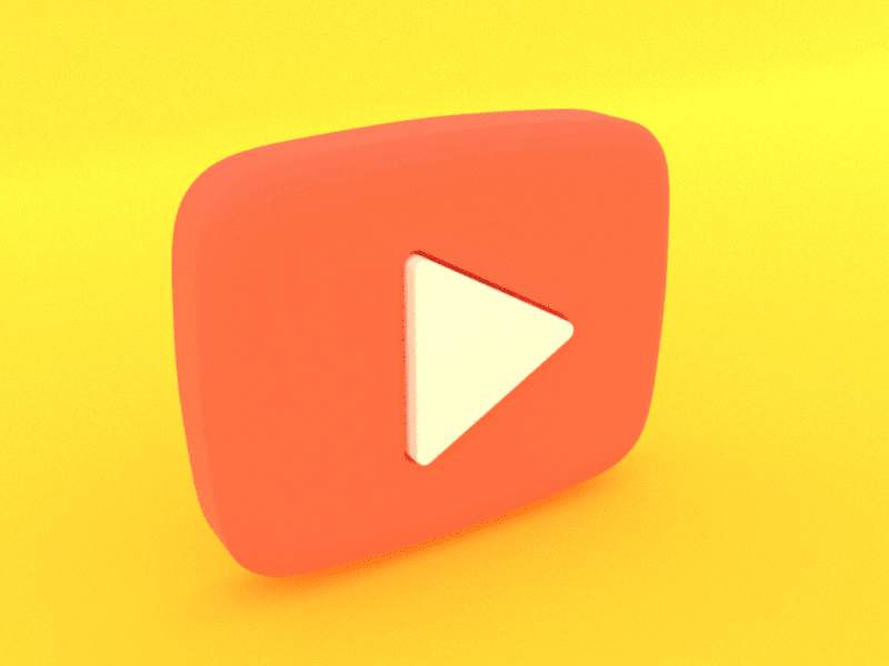 Use This 3d Play Button As A Visual In Your Presentations Or On The Website Youtube Logo 3d Play Button Badge Video Render Moc Badge Mockup Templates