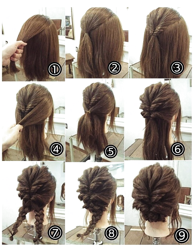 Updos How Hochsteckfrisuren Wie Updos Comment Updos Como Easy Updos Updos For Medium L In 2020 Updos For Medium Length Hair Short Hair Updo Medium Hair Styles