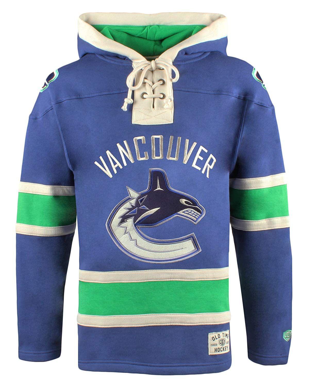 5c5f867d13b NHL Vancouver Canucks Men's Lacer Heavyweight Hoodie, Large, Dark Royal # hockey