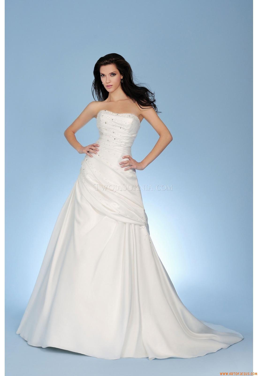 Maßgeschneiderte Elegante Schlichte Brautkleider aus Taft mit Kris ...