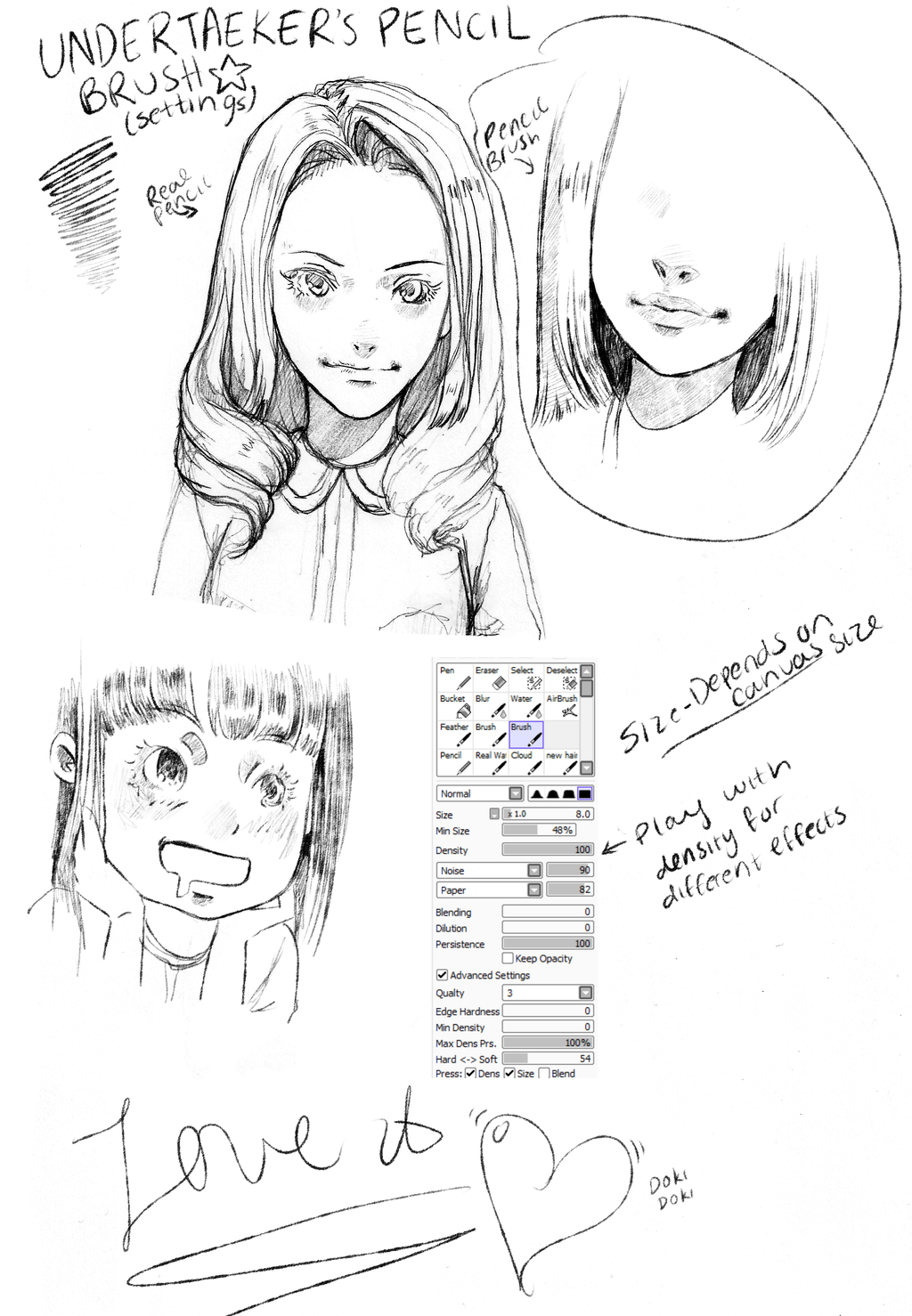 Paint tool sai pencil brush no download by undertaeker
