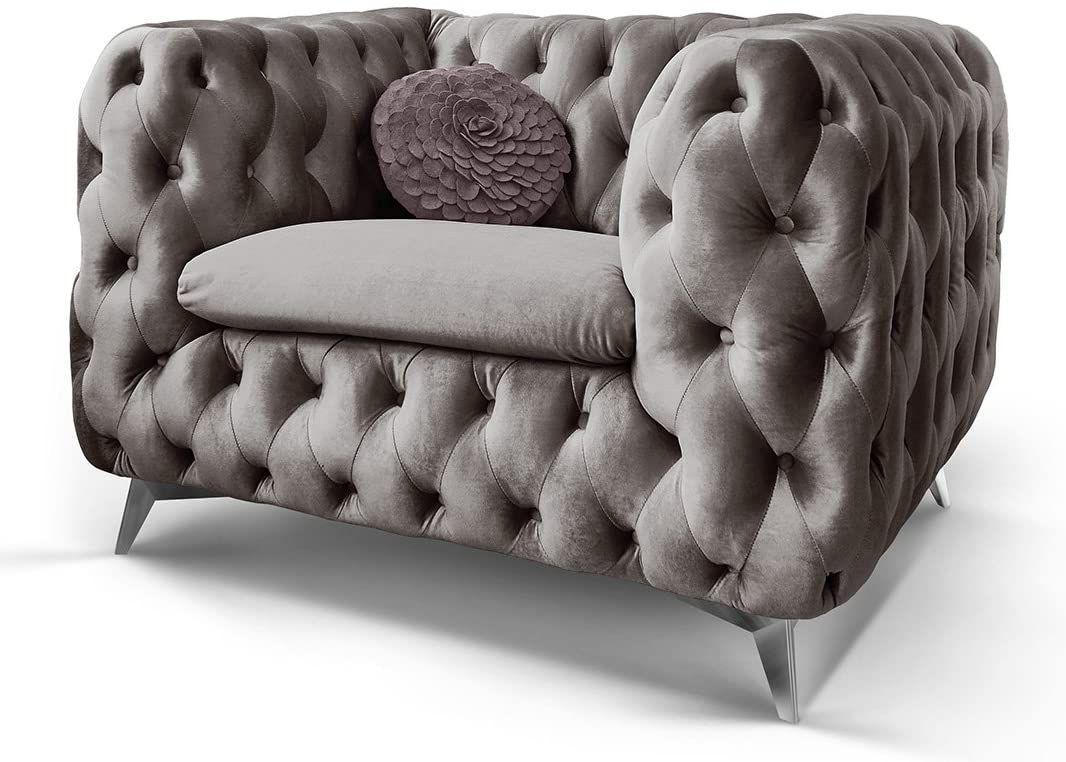 Chesterfield Sofa Couch Stoff Samt 3 Sitzer 2 Sitzer Sessel 1 Sitzer Designer Mobel Emma 1 Sitzer Silber Grau In 2020 Chesterfield Sofa Sofa Couch Sofa