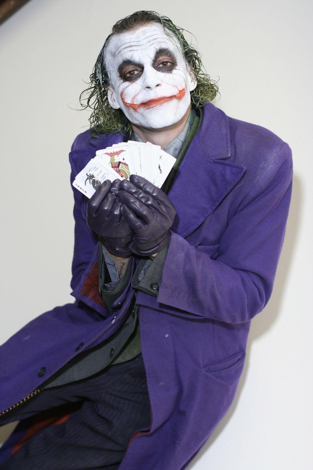 Marvel Superhero Joker Cosplay Heath Ledger Costume Outfits Halloween Warm Up