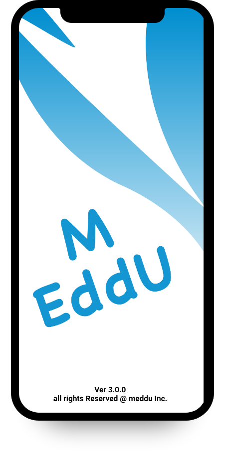 Meddu app splash screen mockup simple splash design
