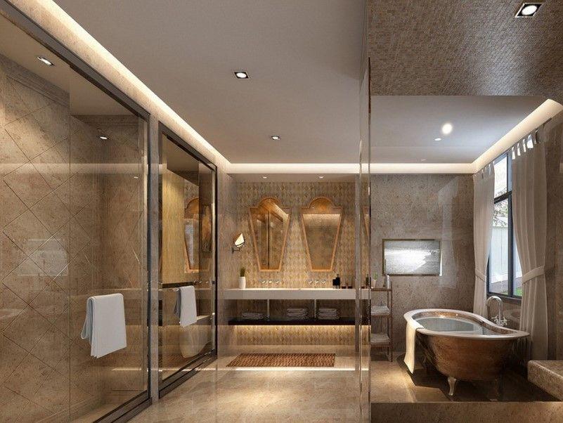 35 Bathroom Ceiling Ideas 2020 Freshen Up Yours Modern Bathroom Bathroom Ceiling Ceiling Design Modern