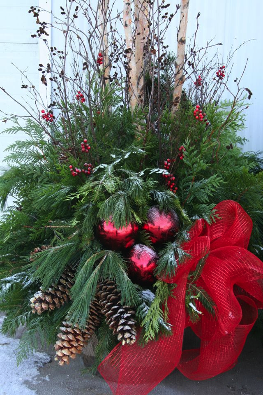 Christmas Urn Decorations For Outdoors Christmas Urns  Christmas Outdoor Decorating  Pinterest