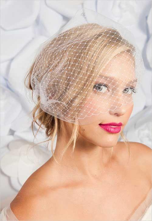 die besten diy brautfrisuren für kurze haare. elegant