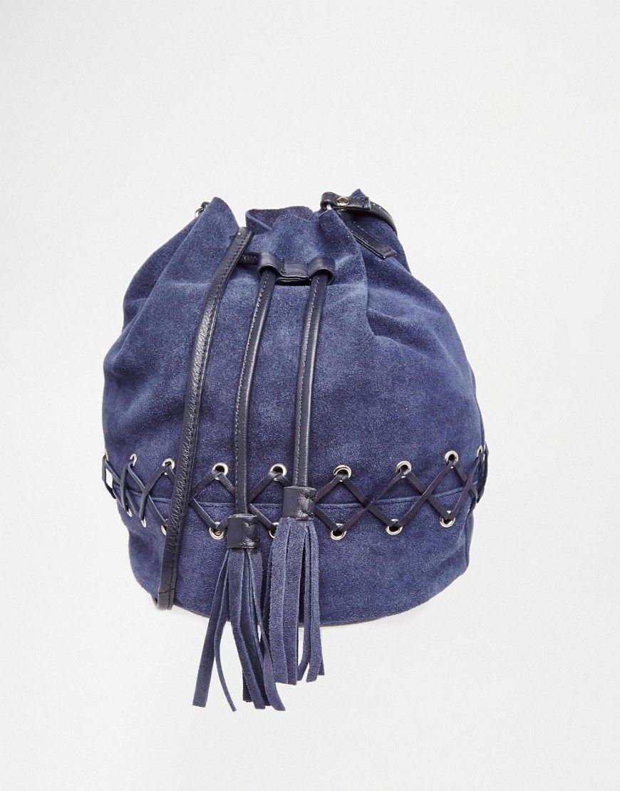 Asos Suede Cross Sch Duffle Bag