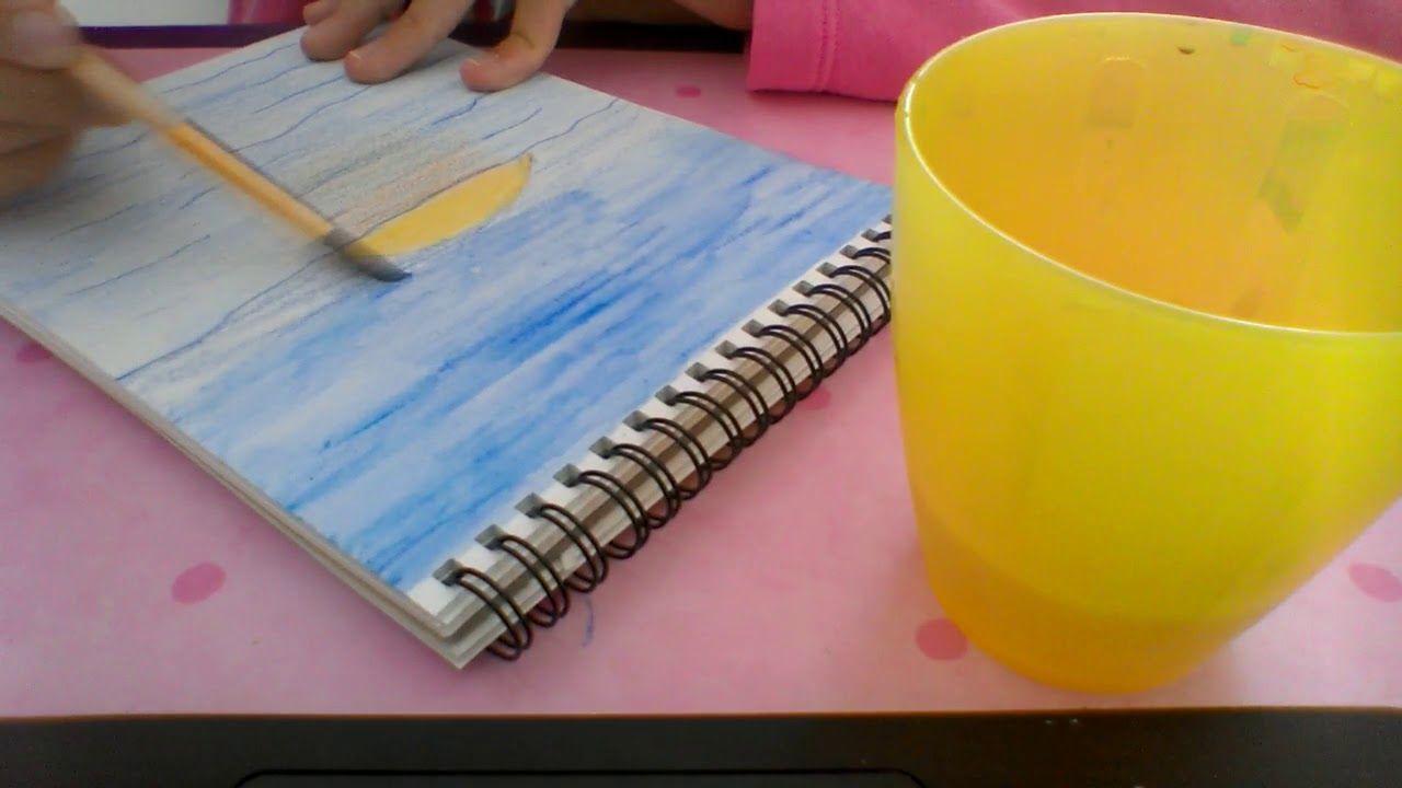 Tuto Coucher Du Soleil Aux Crayons Aquarellables Youtube