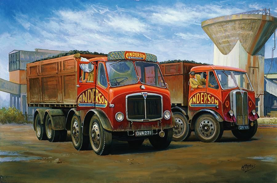 Lorry Painting Sam Andersons Aec Tippers By Mike Jeffries Old