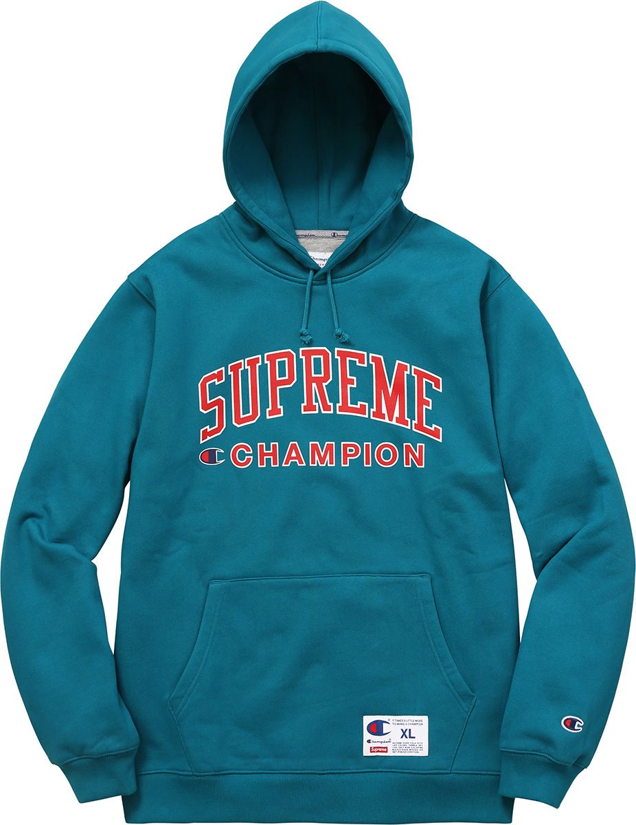 Supreme x Champion Hooded Sweatshirt  f8227649eb