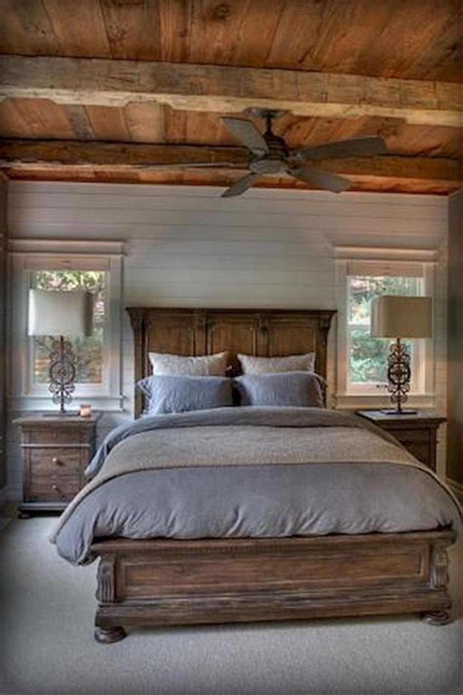 48 Stunning Farmhouse Master Bedroom Design Ideas 2019 26 Farmhouse Style Master Bedroom Farmhouse Master Bedroom Rustic Master Bedroom Decor