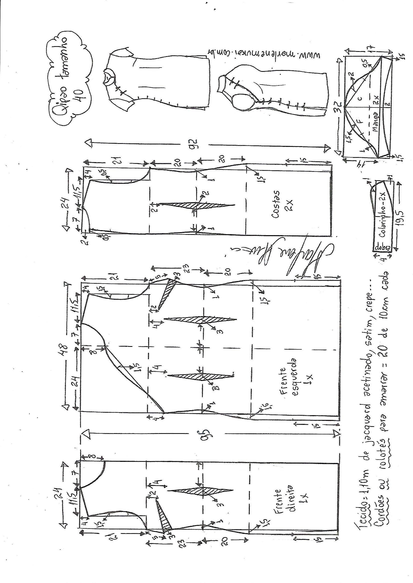 vestido-tubinho-qipao-40.jpg (1654×2338) | patrones | Pinterest ...