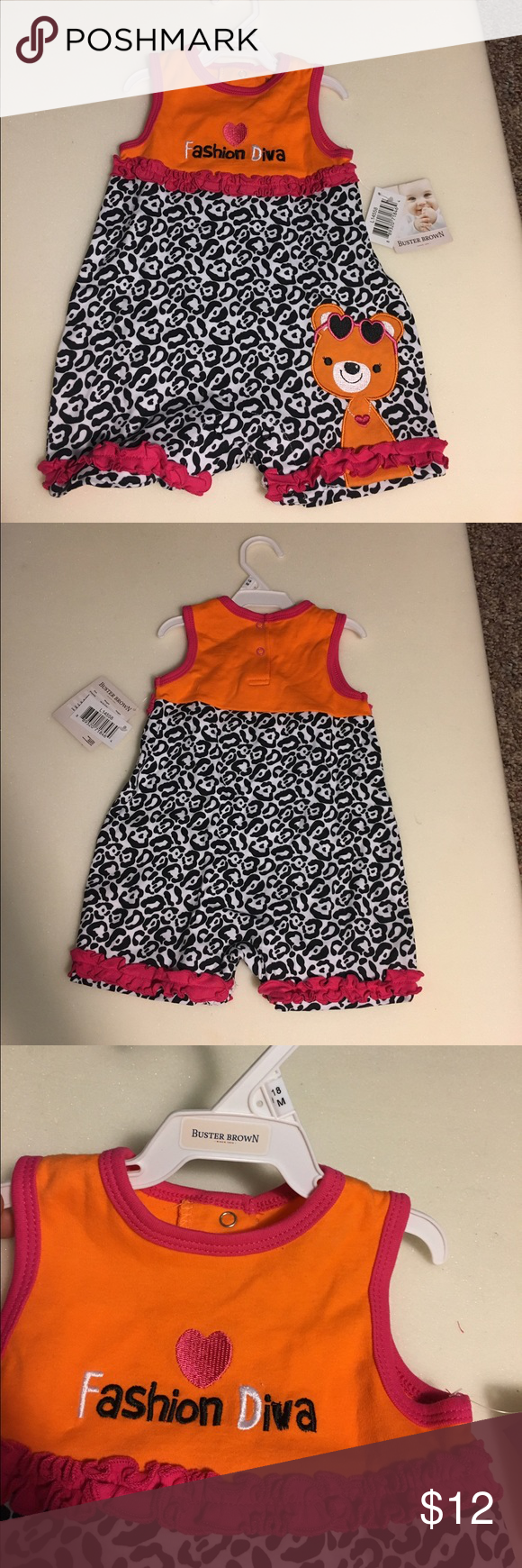 Toddler Outfit Brand new with tags! Great for summer! One Pieces Bodysuits